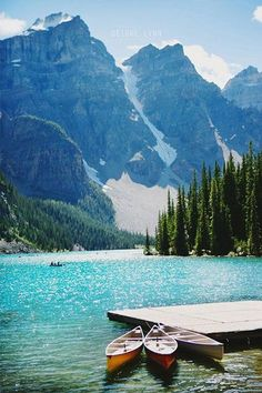 The Best Honeymoon Destinations, According To Lauren Conrad #refinery29  http://www.refinery29.com/lauren-conrad/108#slide-7  Lake Louise, Canada  In Alberta Canada is a gorgeous Alpine vacation destination called Lake Louise. Canada is known for it's gorgeous scenery, but Lake Louise gets five gold stars when it comes to breathtaking mountain ranges and turquoise lake water. If you visit in the summertime you can go hiking, whitewater rafting, golfing or fishing. The wintertime in Lake…