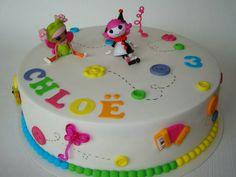 My daughter's lalaloopsy birthday cake