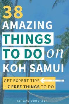 Koh Samui, Thailand: Things to do on Koh Samui: 39 Extraordinary Koh Samui Activities – 39 popular activities: Samui spas and massages, the best shopping, food & drink, sports, surprises and your ultimate list of free things to do on Koh Samui. Click through to read more: http://www.kohsamuisunset.com/things-to-do-koh-samui/ via @kohsamuiguide