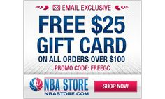 Limited Nov 20, 2012: NBA STORE Promo Code to Get a Free $25 Gift ...