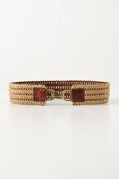 "Woven Raffia Stretch Belt #anthropologie, $29.95 on sale. DETAILS: raffia, elastic (S: 28""L, M: 30""L, L: 32""L 2.5""W) Imported Style #: 28291599 COLOR: NEUTRAL"