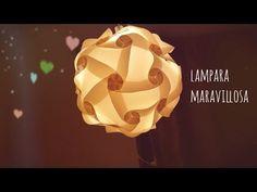 Vero Vi 💋 LAMPARA MARAVILLOSA / IQ LAMP 💜 Origami, Table Lamp, Paper Crafts, Lights, Ideas Para, Youtube, Easy, Gift, Design
