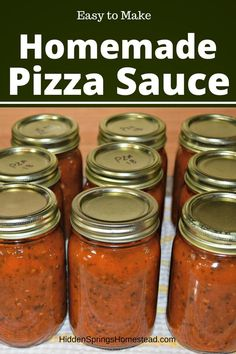 Learn how you can DIY your own homemade pizza sauce. This simple easy to recipe is sure to be a hit. Made with fresh tomatoes, Italian Spices and Keto friendly. Its the perfect homemade pizza sauce. Home Canning Recipes, Canning Tips, Tomato Canning Recipes, Canning Soup, Pressure Canning Recipes, Canning Salsa, Fresh Tomato Recipes, Spinach Recipes, Homemade Pickles