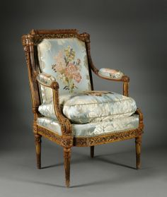 French Armchair (fauteuil), c. 1785 made by Nicolas-Denis Delaisement  at the Cleveland Museum of Art, Cleveland