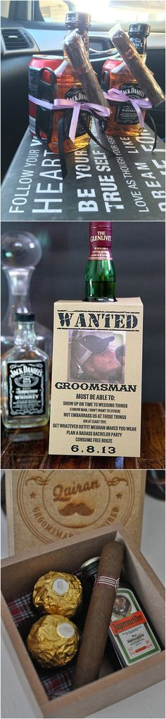 Creative groomsmen gift ideas #wedding #giftideas