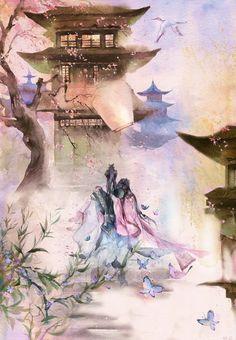万重帘-ENOFNO_水彩_涂鸦王国插画
