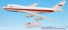 TWA 6474 Boeing 747100 Airplane Miniature Model Snap Fit 1200 PartABO74710H004 * Continue to the product at the image link.