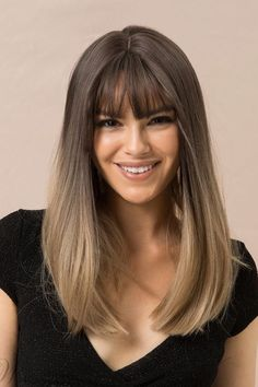 Latest Haircuts For 2021 Enhance Your Beauty with New Hairstyles for 2021 | Hairstyles Charm Long Bob Ombre, Ombre Bob Hair, Best Ombre Hair, Brown Ombre Hair, Grey Ombre, Straight Ombre Hair, Straight Wigs, Brown Balayage, Blonde Ombre