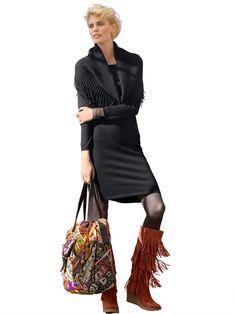 Chaussures originales de soirée - Bottes compensées à franges http://www.helline.fr/Bottes-compensees/an2786951/HellineFr?s==sh21657116sp10010783734
