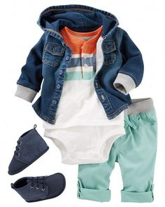c3e250032f6 Baby Boy Double-Decker Striped Pocket Henley Bodysuit from OshKosh B gosh.  Shop clothing   accessories from a trusted name in kids