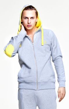 5484bf35fd OnePiece® Patch Hoodie Grey Yellow Grey Hoodie
