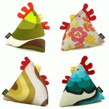 chicken doorstop - widely sold at craft fairs, stuffed or flat pack.  £12 approx.