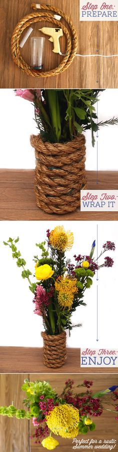 Here's the instructions from our blog on this super easy #DIY craft for any rustic #wedding.