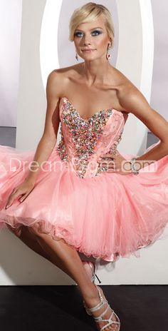 Fabulous A-line Sweetheart Mini/Short Sweet/Cocktail Dresses