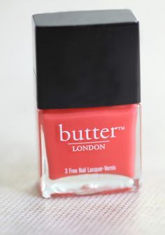 jaffa nail laquer by Butter London. This is a great coral. #manicure #mani #nails