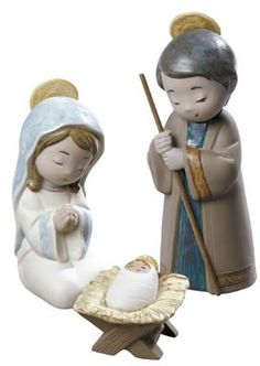 Porcelain Nativity Figurines, NAO-by-Lladro-All, 2012017 Nativity Scene Sets, Christmas Gifts, Christmas Ornaments, Fimo Clay, Collectible Figurines, Hand Coloring, Sculpting, Porcelain, Teddy Bear