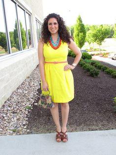 Yellow Dress & Statement Necklace