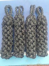 4 x ROPE SIDE FENDERS FOR NARROWBOAT OR BARGE, BOAT, CANAL
