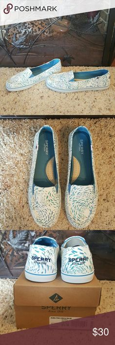 """Sperry """"Zuma Fish Circle"""" Casual Slip on Shoes-NIB Super cute and comfortable.  Brand new in box.  Only tried on. Sperry Shoes Flats & Loafers"""