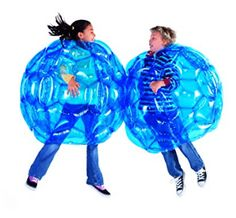 HearthSong Set of 2 Blue BBOP Buddy Bumper Ball Inflatable Blow Up Giant Wearable Body Bubble Zorb Soccer Suit Heavy Duty Durable PVC Vinyl Kids Adults Physical Outdoor Active Play Inches Diam Things That Bounce, Cool Things To Buy, Bubble Soccer, Baby Snowsuit, Outdoor Play Areas, Inflatable Bouncers, Pvc Vinyl, Vinyl Toys, Game Sales