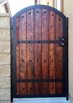 34 Ideas Steel Gate Design Idea Is Perfect For Your Home, There are several types of gates, including wooden gates, wrought gates and perhaps even bespoke steel gates, and that means you have a vast range to . Metal Gates, Wooden Gates, Wrought Iron Gates, Wooden Doors, Fence Doors, Fence Gate, Dog Fence, Farm Fence, Fence Panels