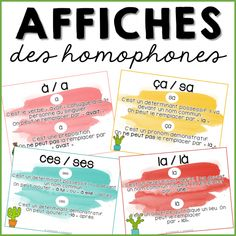 Les Homophones, Homework Club, Memento, Core French, French Education, French Grammar, French Expressions, French Immersion, Pre Writing