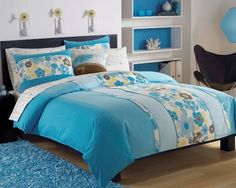 Rest comfortably with this incredible Roxy Beach Break bed in a bag with sheet set. A brilliant floral design decorates this set and will bring your bedroom decor to life. Girl Bedroom Designs, Bedroom Themes, Girls Bedroom, Bedroom Decor, Bedroom Ideas, Cozy Bedroom, Blue And Yellow Bedding, Blue Bedding Sets, Roxy Surf