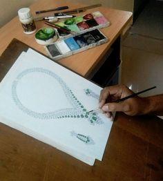Jewelry Design Drawing, Jewelry Sketch, Jewellery Sketches, Designs To Draw, Diamonds, Collar Necklace, Designs For Drawing, Diamond, Grill Design