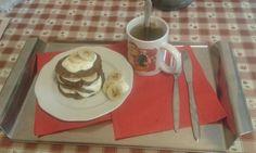 Americké proteinové lívance s tvarohem a banánem. Super snídaně!!!