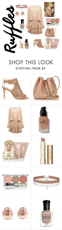 """Ruffles"" by chauert ❤ liked on Polyvore featuring Alexandre Birman, Lancaster, Faith Connexion, e.l.f., Vince Camuto, Stila, Chantecaille, Miss Selfridge, Monica Vinader and Deborah Lippmann"