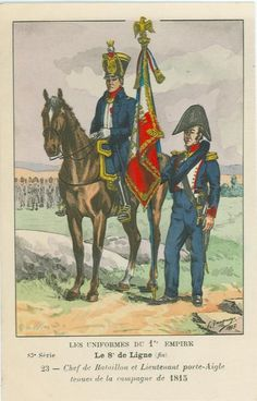 8eme-chef-de-battalion-and-lieutenant-1 adlertraeger-in-1815