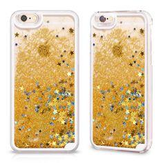 Aurous Gold Glitter Star Case iPhone 6