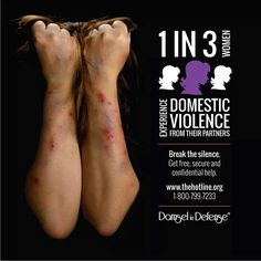 One in three women experience domestic violence from their partners.  Join Damsel in Defense and help break the silence.