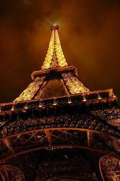 brown . Eiffel tower