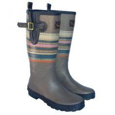 Joules Welly Rain Boot Multistripe   Let It Rain