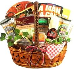The Top Grill Chef Premium Men's Gourmet Gift Basket for Him | Christmas Gift Idea