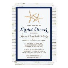 284 best beach bridal shower invitations images on pinterest starfish whitewashed wood beach bridal shower card filmwisefo
