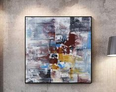 Original Large Abstract paintings By Professionals by WallAbstract Large Artwork, Original Artwork, Abstract Paintings, Abstract Art, Etsy Seller, The Originals, Canvas, Handmade Gifts, Vintage