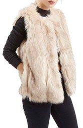 Topshop'Leah' Faux Fur Vest