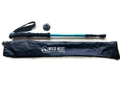 Wild Next Trekking Pole Ultralight With Carry Bag Tip Accessories and Decal for Hiking / Camping / Mountaineering / Adjustable Anti Shock Walking Stick Hiking Pole ** Check out this great product.