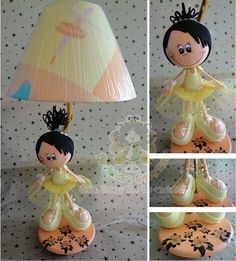 lampara fofucha Diy Crafts For Gifts, Foam Crafts, Ballerina Party, Biscuit, Lalaloopsy, New Hobbies, Craft Tutorials, Projects To Try, Beautiful