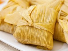 Easy Tamales - the masa mix looks delish & healthy (chicken broth, cumin & a little butter).  Use any filling you like.