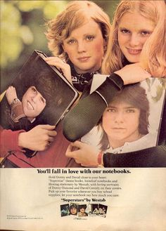 Donny Osmond & David Cassidy binders