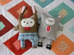 Bunny Kitty Sewing in a Straight Line
