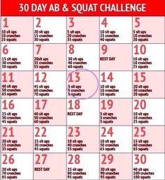 Ab & Squat Challenge