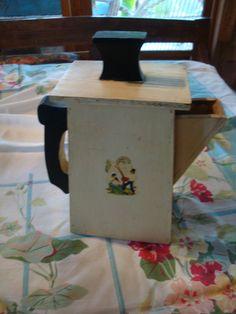 Vitage Laundry Detergent   Vintage Wood Laundry Soap Dispenser Bottle 1940s Detergent Container
