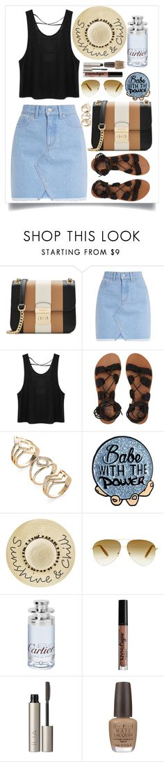 """""""Summer Look #3"""" by nrostova ❤ liked on Polyvore featuring MICHAEL Michael Kors, Billabong, Betsey Johnson, Victoria Beckham, Cartier, NYX, Ilia and OPI"""