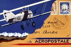 Aeropostale, Aeroplane Flight, Airplane Art, Air France, Travel Posters, Vintage Posters, Aviation, Air Lines, Planes