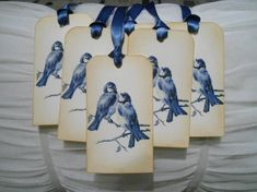 Vintage Inspired Bluebirds Gift/Wish Tree by IndelibleImpressions, $7.00
