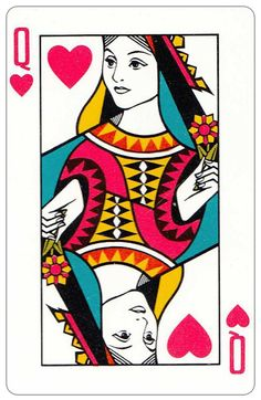 #PlayingCardsTop1000 – Oberg Son Eskilstuna Sweden Cards made for The Bofors Group – Queen of hearts